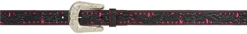 Angel Ranch Black and Pink Ladies' Fashion Belt - Kerlin's Western and Work Wear