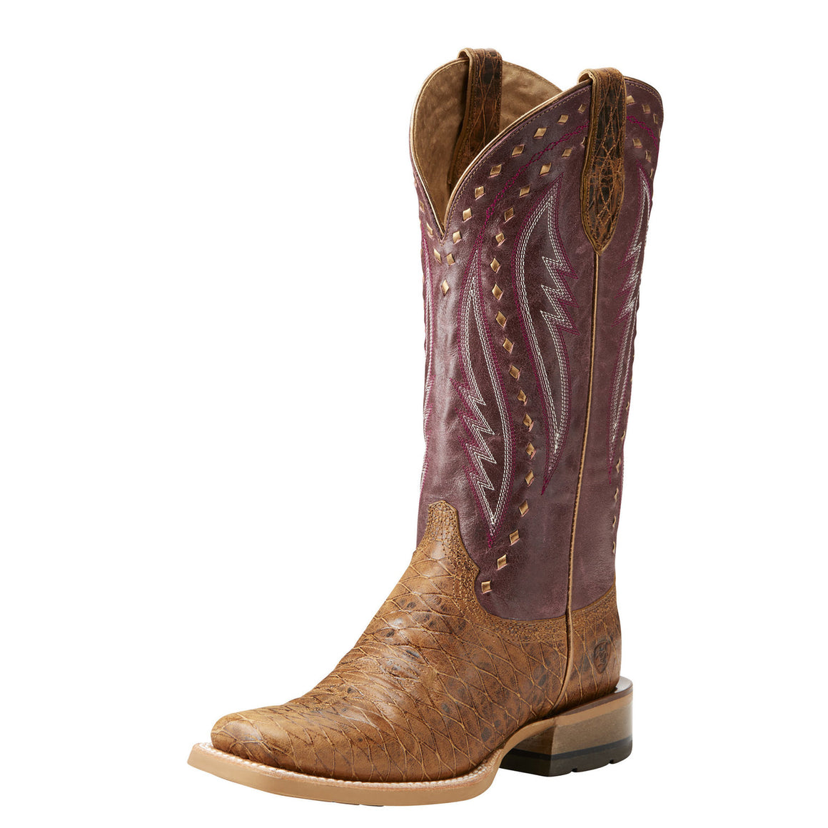 Ariat Callahan Cattleguard Tan Square Toe Boots