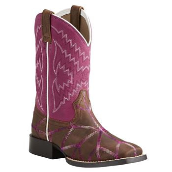 Ariat Youth Twisted Tycoon Square Toe Boot