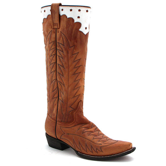 "Stetson Western 15"" Antiqued Brown Boots - Kerlin's Western and Work Wear"