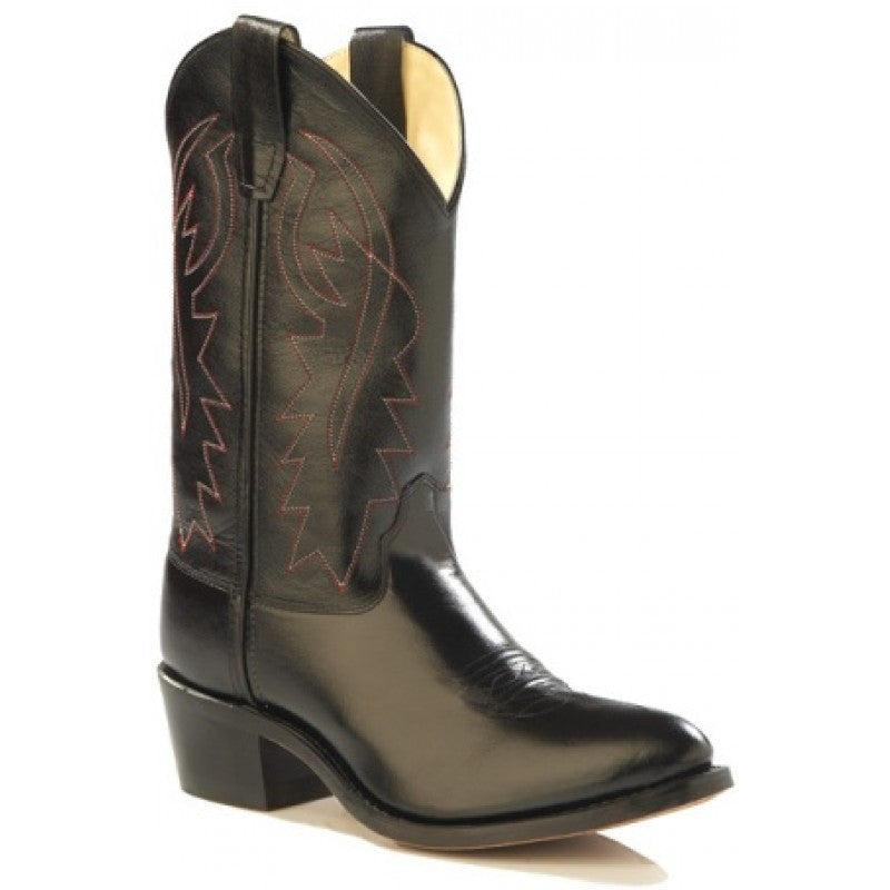 Old West Black Cowboy Boots - Youth - Kerlin's Western and Work Wear