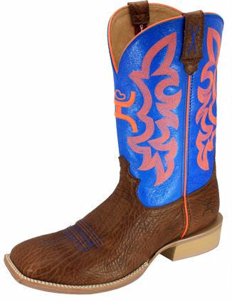 Twisted X Hooey NWS Men's Square Toe Boot Cog/Blue