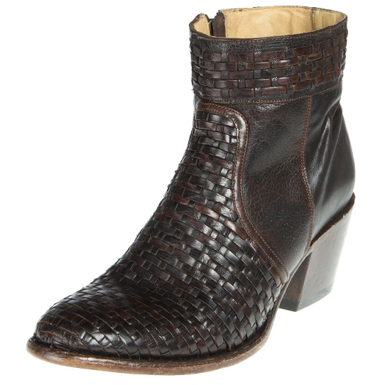 Stetson Distressed Brown Basket Weave Boot