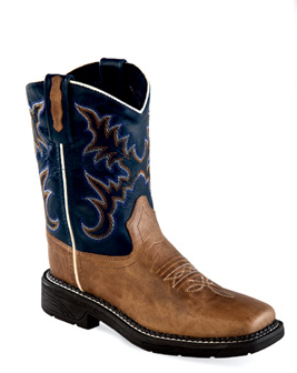 Old West Square Toe Boot with Work Outsole