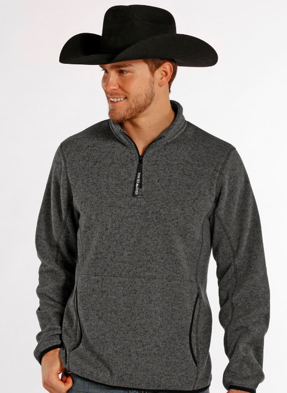 Powder River Outfitters Men's Quarter Zip Pullover Sweater