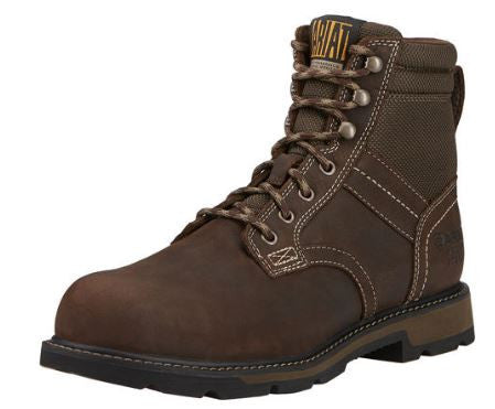 "Ariat Groundbreaker 6"" Steel Toe H2O Lace Up Work Boot"