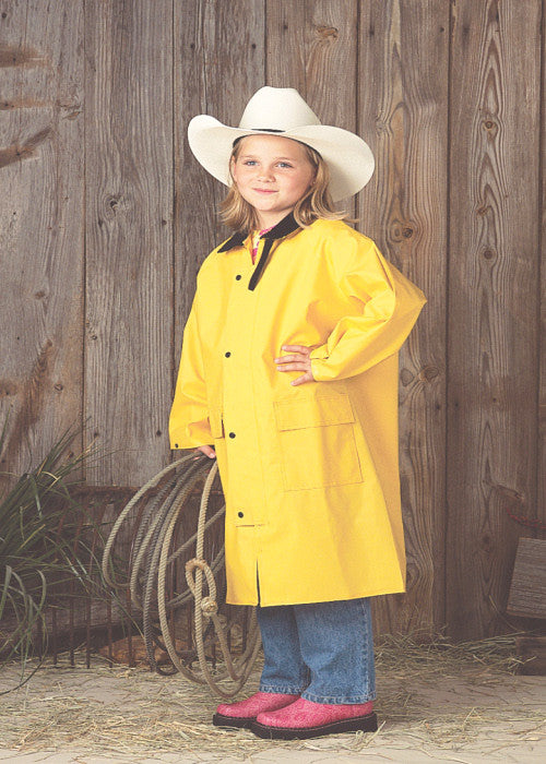 Children's Saddle Slicker From Double SS Yellow - Kerlin's Western and Work Wear