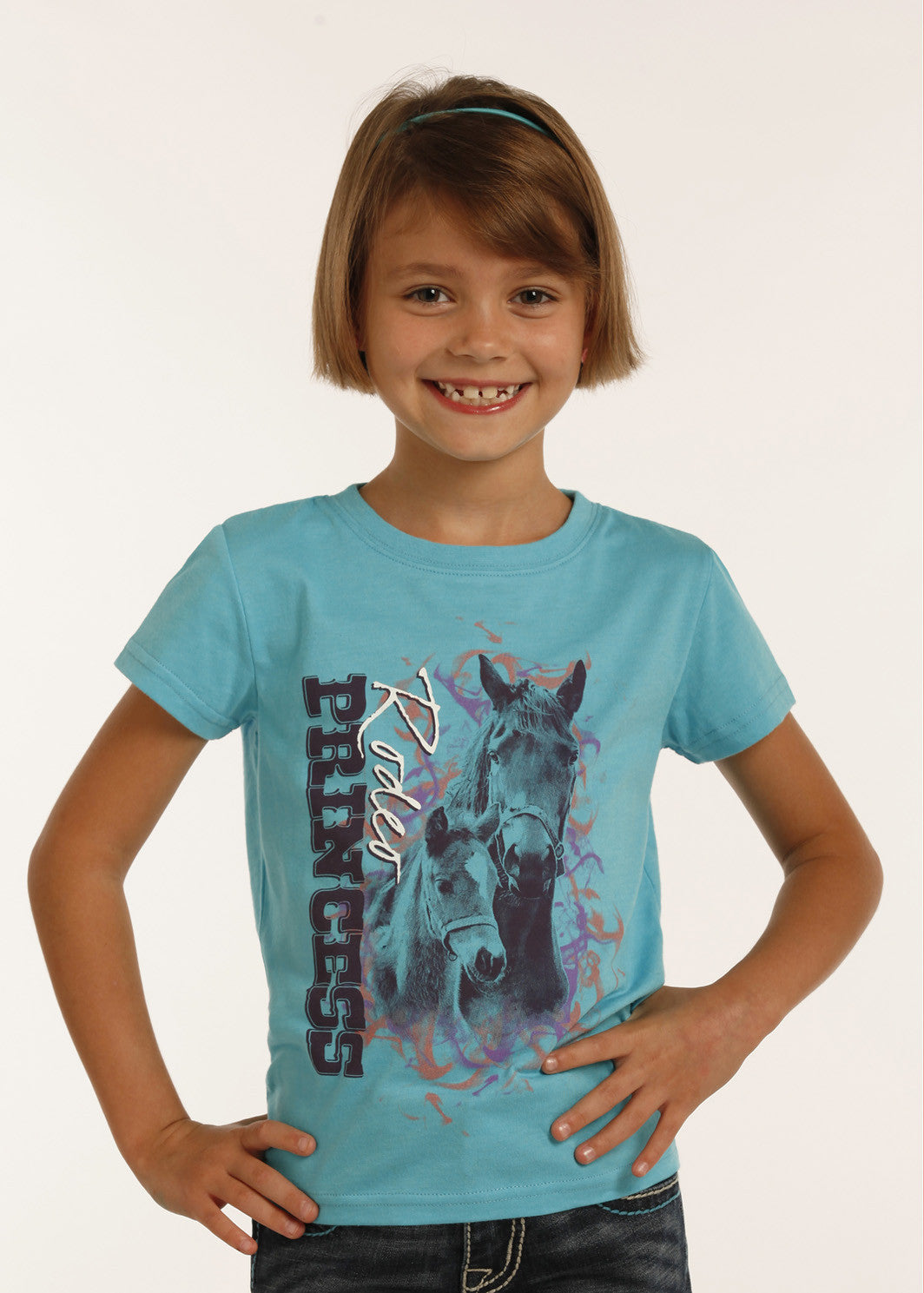 Panhandle Slim Girl's Horse Graphic Tee