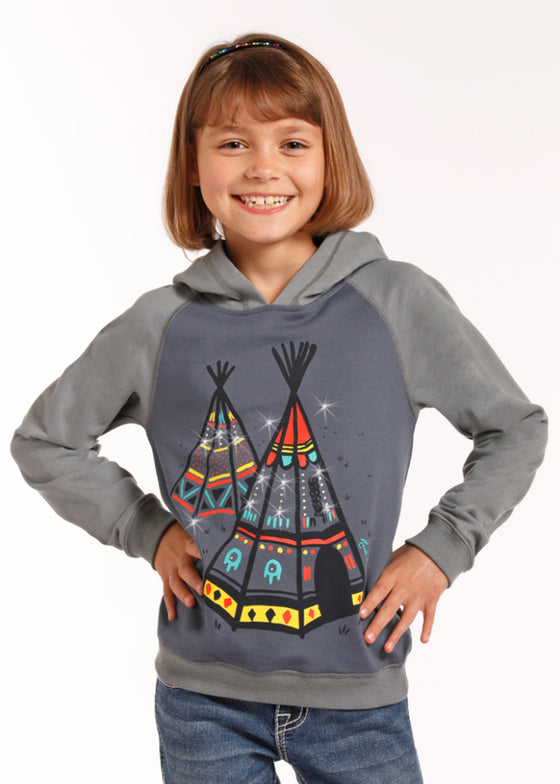 Rock & Roll Cowgirl Teepee Graphic Hoodie