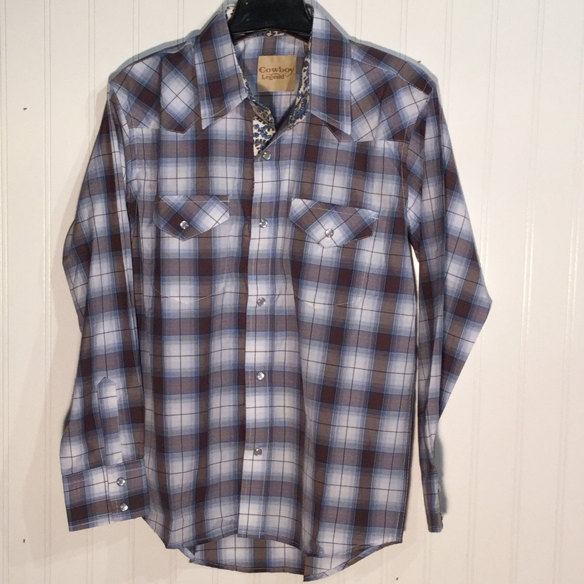 Cowboy Legend Boys Plaid Shirts Blue - Kerlin's Western and Work Wear  - 1