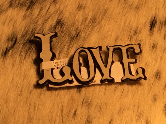 White LOVE Magnet - Kerlin's Western and Work Wear  - 1
