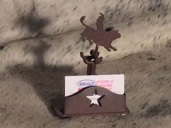 Cowboy Bull Rider Card Holder - Kerlin's Western and Work Wear  - 1