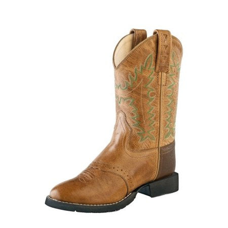 Old West Kid's Distressed Round Toe Boot