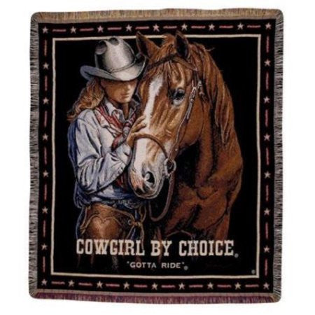 Simply Home Cowgirl by Choice Tapestry