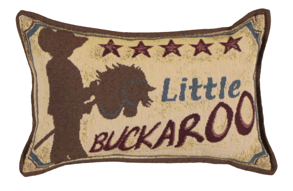 Simply Home Little Buckaroo Mini Tapestry Pillow