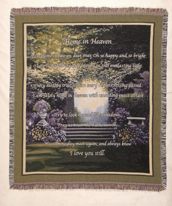 Simply Home Tapestry Throw Home in Heaven
