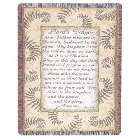 Simply Home Lord's Prayer Tapestry Throw - Kerlin's Western and Work Wear