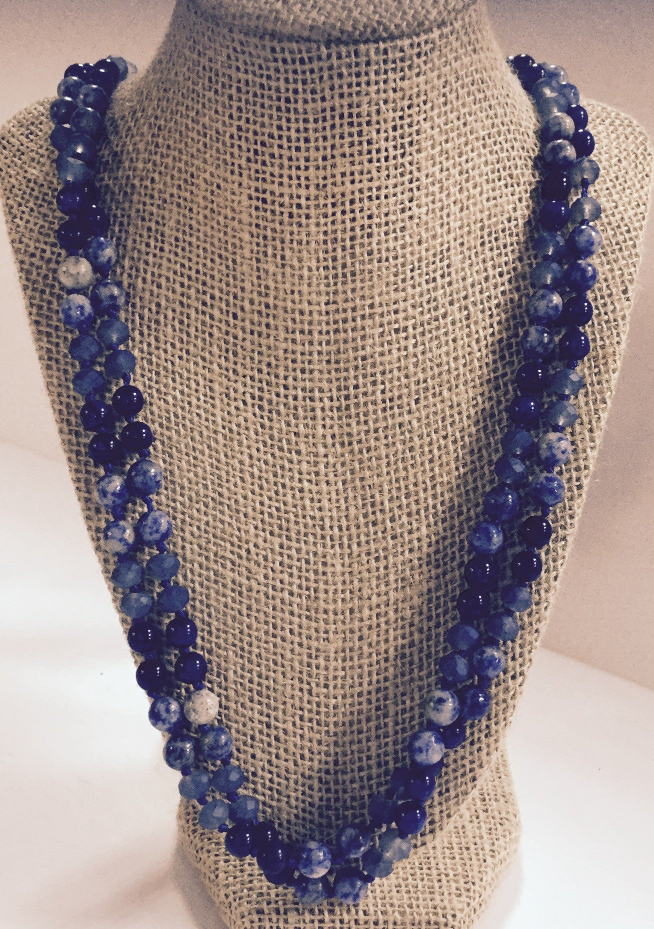 blue amazon bead com dp strand jewelry lapis necklace lazuli silver necklaces sterling