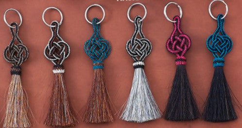 Braided Horse Hair Key Chain