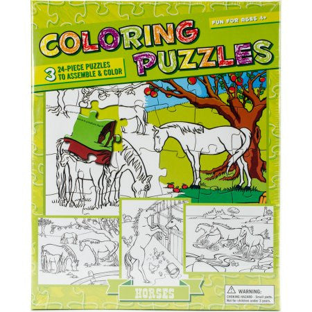 Coloring Horses Puzzle
