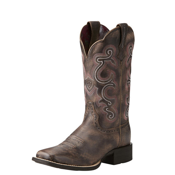 Ariat QuickDraw Tack Room Chocolate Square Toe Boot