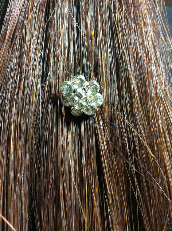 Hair Clip Small Crystal Flower - Kerlin's Western and Work Wear  - 1
