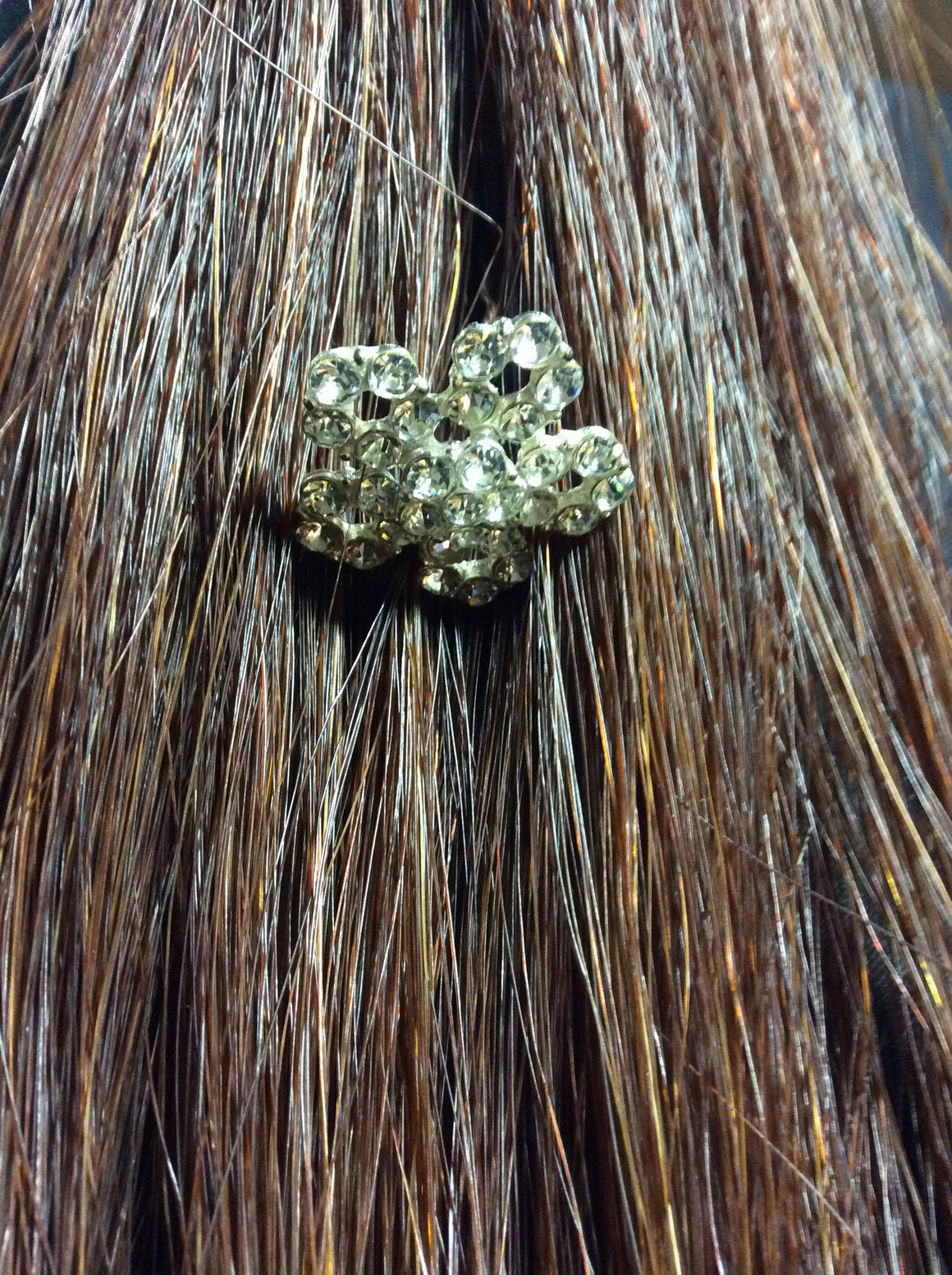 Hair Clip Large Crystal Flower - Kerlin's Western and Work Wear  - 1
