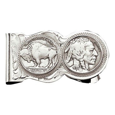 Buffalo Indian Nickel Scalloped Money Clip - Kerlin's Western and Work Wear