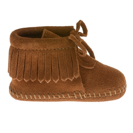 Minnetonka Infants Brown Suede Fringe Bootie - Kerlin's Western and Work Wear