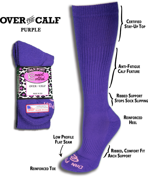 Dan Post Cowgirl Certified Over the Calf Socks 1-Pack