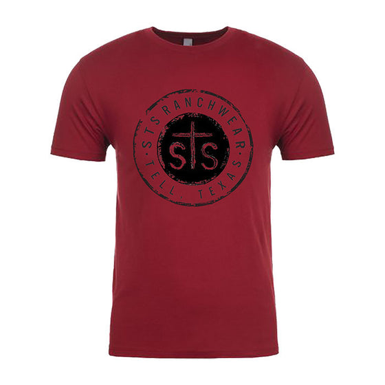 STS Button Unisex Tee (Cardinal)