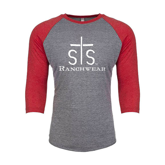Standard STS Unisex Baseball Tee (Gray / Red)