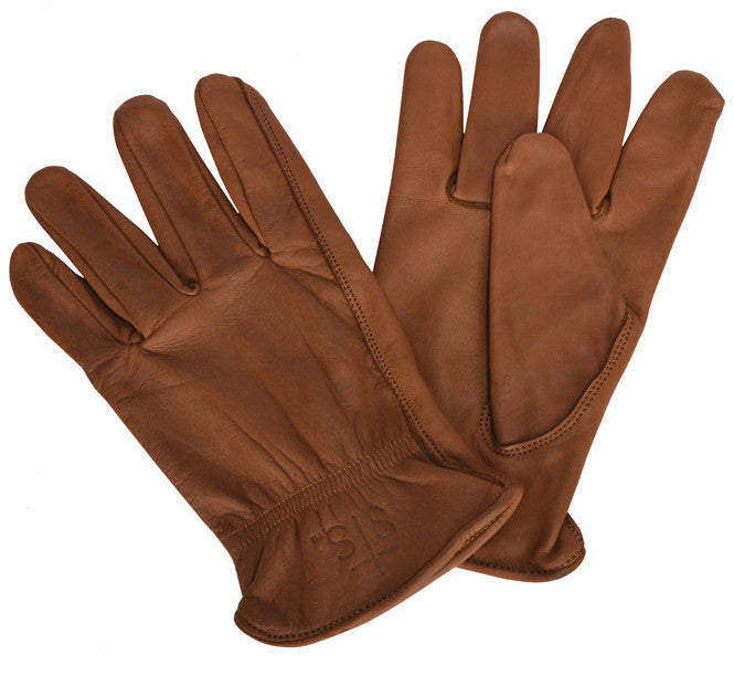 Brown Lined Water Resistant Gloves