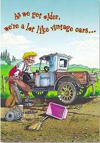 Birthday Card:  As we get older, even used parts are hard to find! - Kerlin's Western and Work Wear
