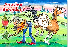 Birthday Card:  Well, ain't that a kick in the pants! - Kerlin's Western and Work Wear