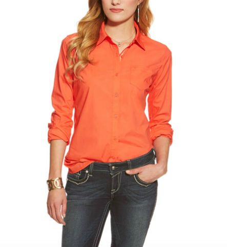 Ariat Red Coral Shirt Womens - Kerlin's Western and Work Wear