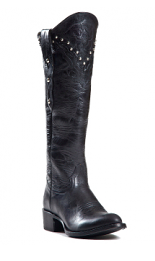 Johnny Ringo Knee High Black Boot with Studs - Kerlin's Western and Work Wear  - 2