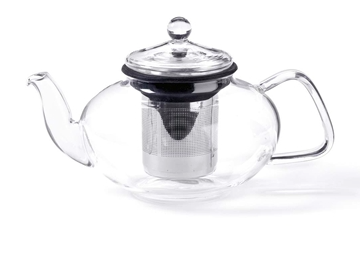 FOR TEA'S SAKE, 33OZ. GLASS TEAPOT W/ STAINLESS STEEL INFUSER - Kerlin's Western and Work Wear