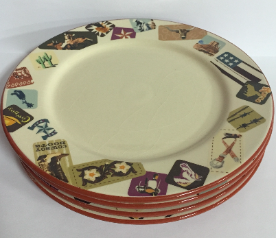 M&F Western Products Retro Western Salad Plate Set - Kerlin's Western and Work Wear