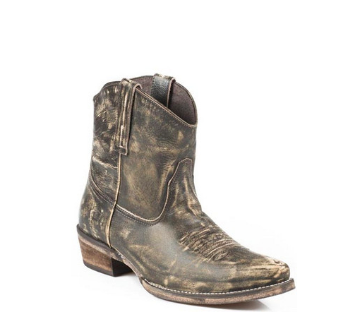 Roper Dusty Leather Snip Toe Ankle Cowgirl Boot - Kerlin's Western and Work Wear