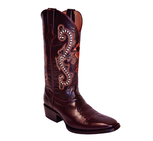 Ferrini Chocolate Genuine Cowhide Exotic Boots - Kerlin's Western and Work Wear