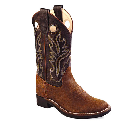Old West Brown Square Toe Boots - Youth - Kerlin's Western and Work Wear