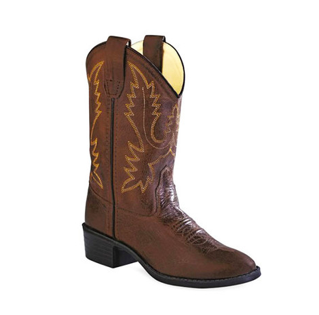 Old West Brown Canyon Boots - Youth - Kerlin's Western and Work Wear