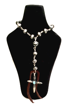 Authentic Sterling Silver and Turquoise Necklace - Kerlin's Western and Work Wear