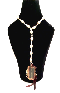 Beaded Necklace with Engraved Pendant - Kerlin's Western and Work Wear