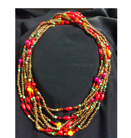 "Eight-Strand, Multi-Colored 30"" Necklace - Kerlin's Western and Work Wear  - 1"