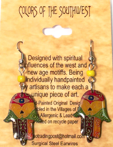 Colors of the Southwest Multi-Colored Funky Hands Earrings - Kerlin's Western and Work Wear