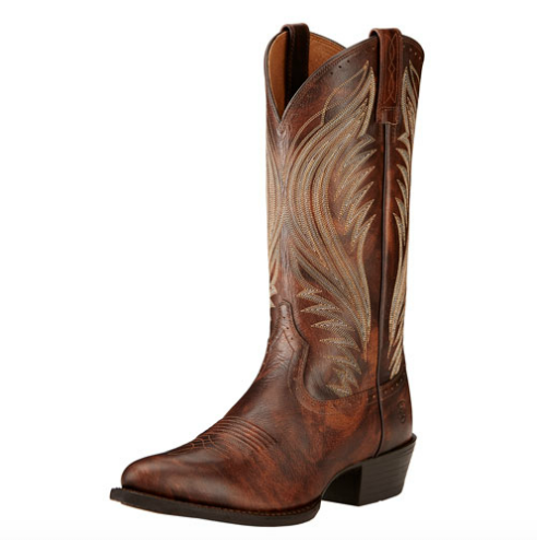 Ariat Boomtown Brushed Brow Brown Boots - Kerlin's Western and Work Wear  - 1