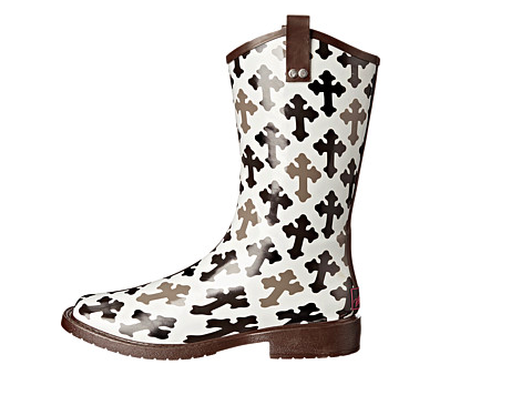 Blazin Roxx Black/White Cross Rain Boot - Kerlin's Western and Work Wear  - 3