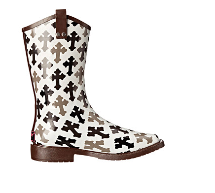 Blazin Roxx Black/White Cross Rain Boot - Kerlin's Western and Work Wear  - 2